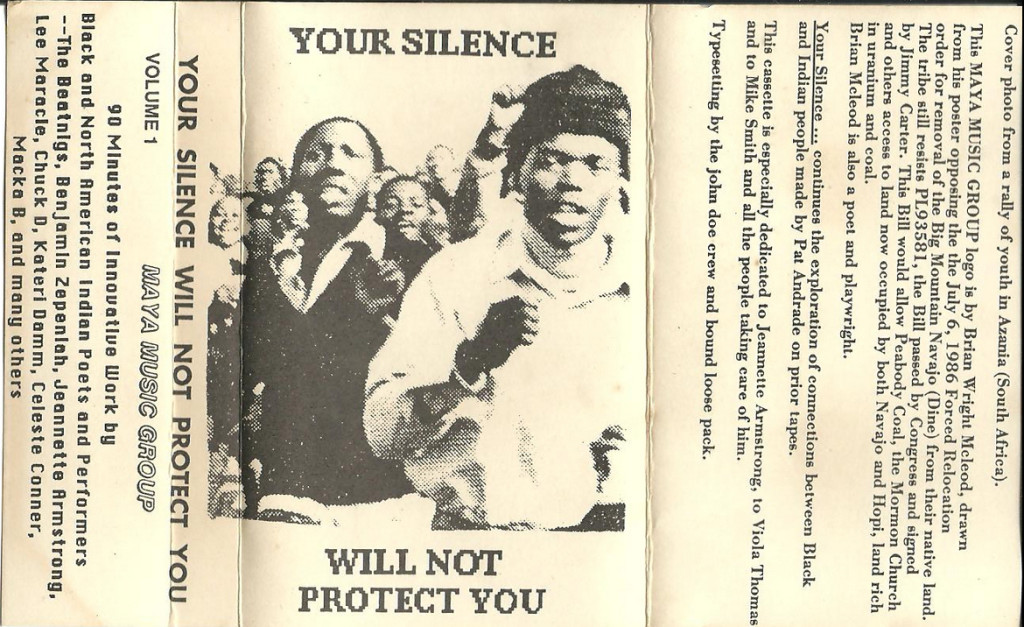 Your Silence Will Not Protect You v-a cassette