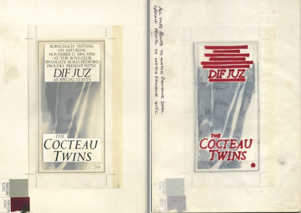 Cocteau Twins Bedford ticket artwork. Old skool!