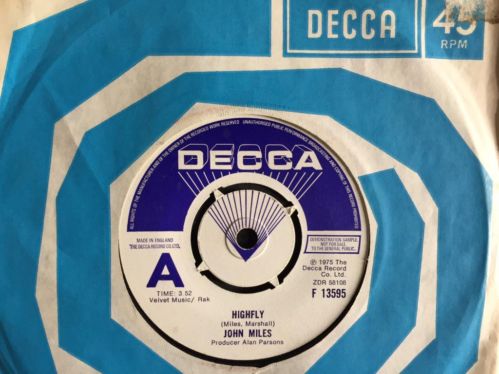 "John Miles - Highfly promo 7"""