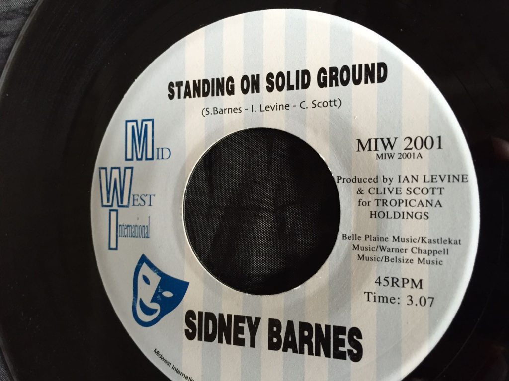 Sidney Barnes - Standing On Solid Ground 7""
