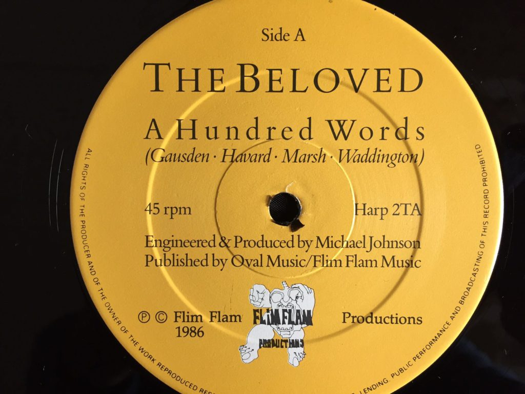 "The Beloved - A Hundred Words (post punk 12"")"