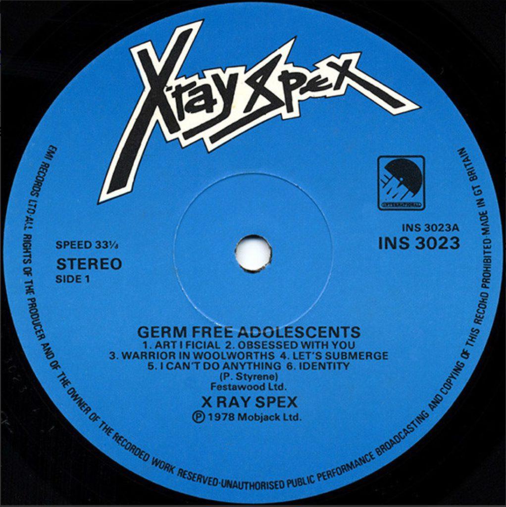 X-Ray Spex - Art-I-Ficial
