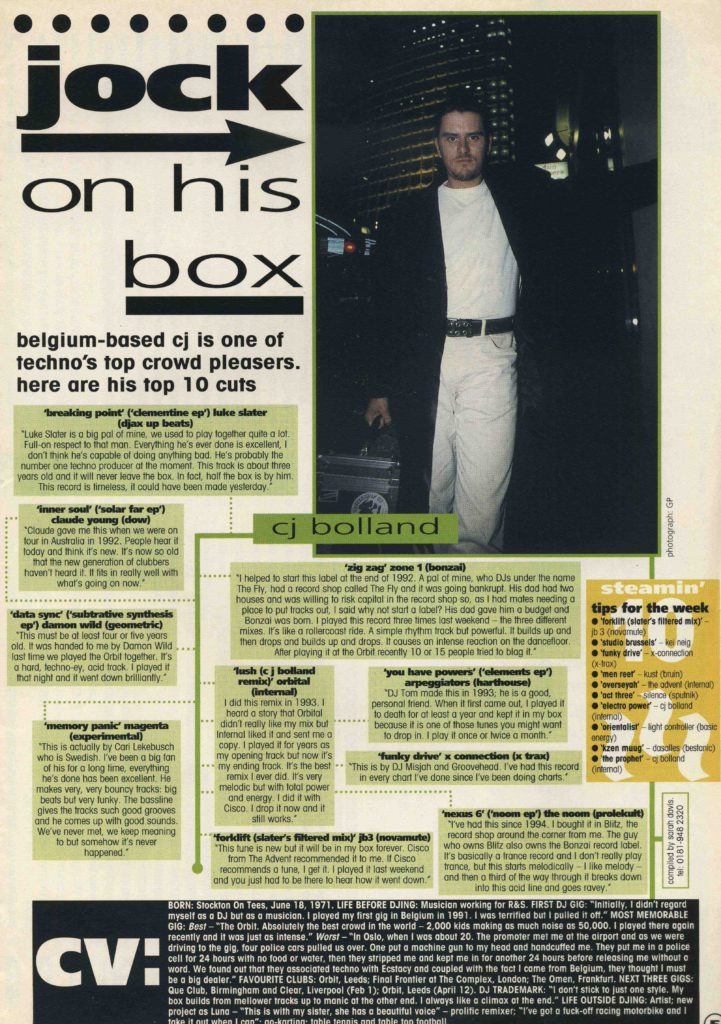 CJ Bolland article, 1.2.97