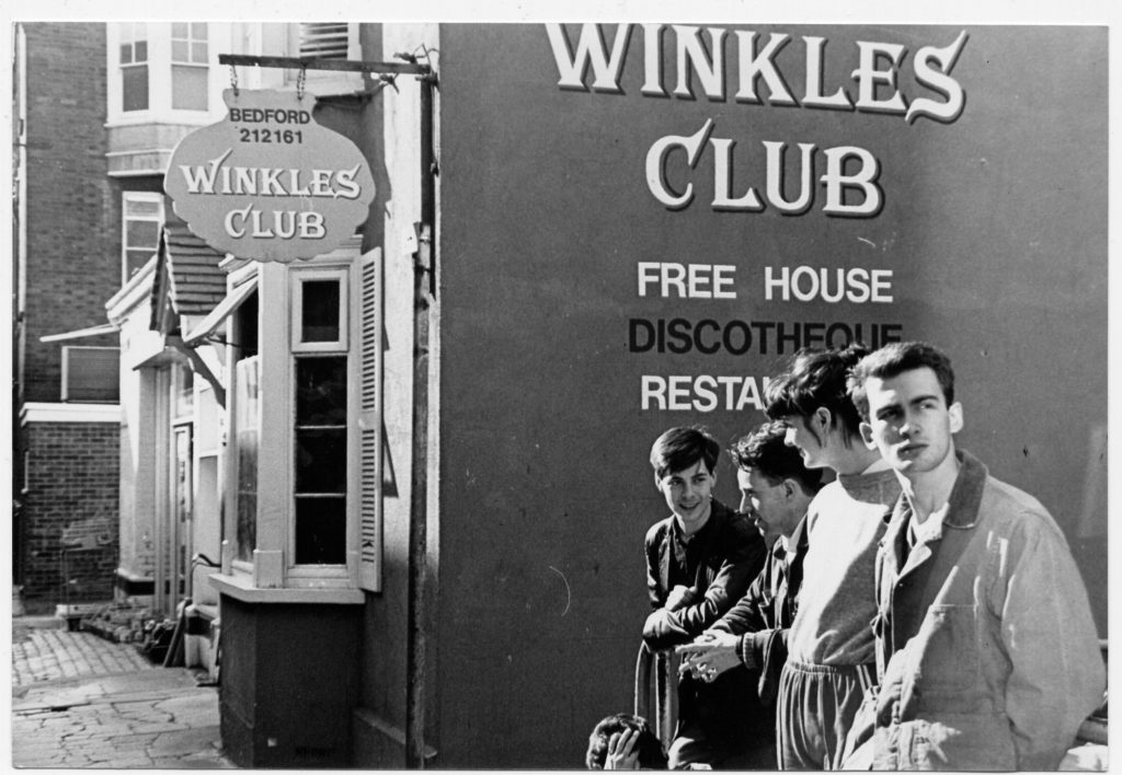 Stephen, Caesar, Carolyn and Mac - outside Winkles