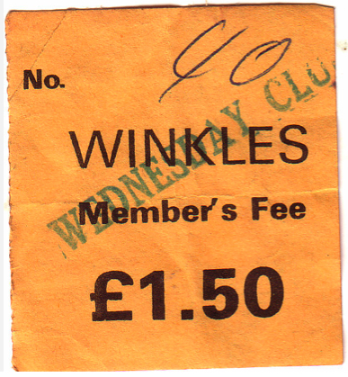 Winkles club ticket