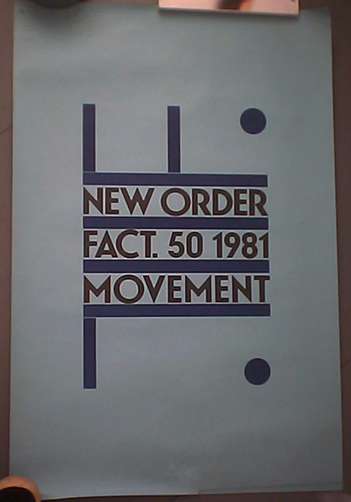 New Order 'Movement' FACT 50 poster - 41 Rooms