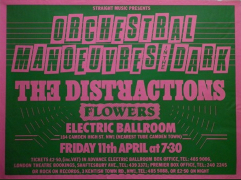 OMD Electric Ballroom poster, 11.4.80