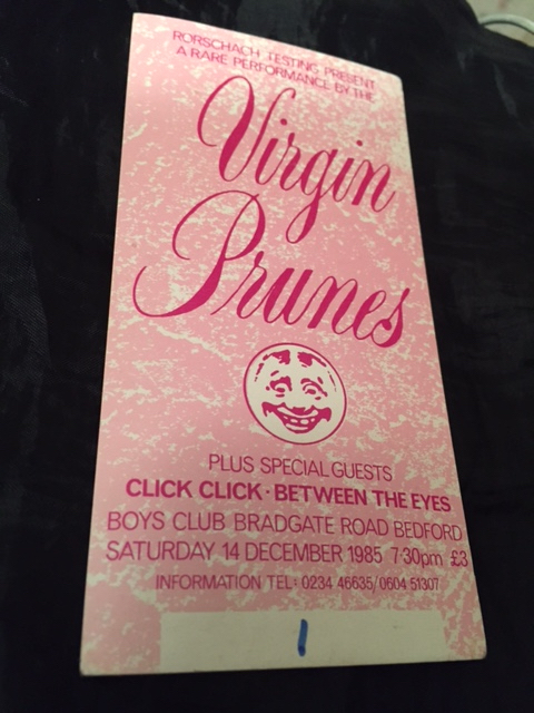 Virgin Prunes - Bedford Boys Club ticket #001 - 41 Rooms - show 81