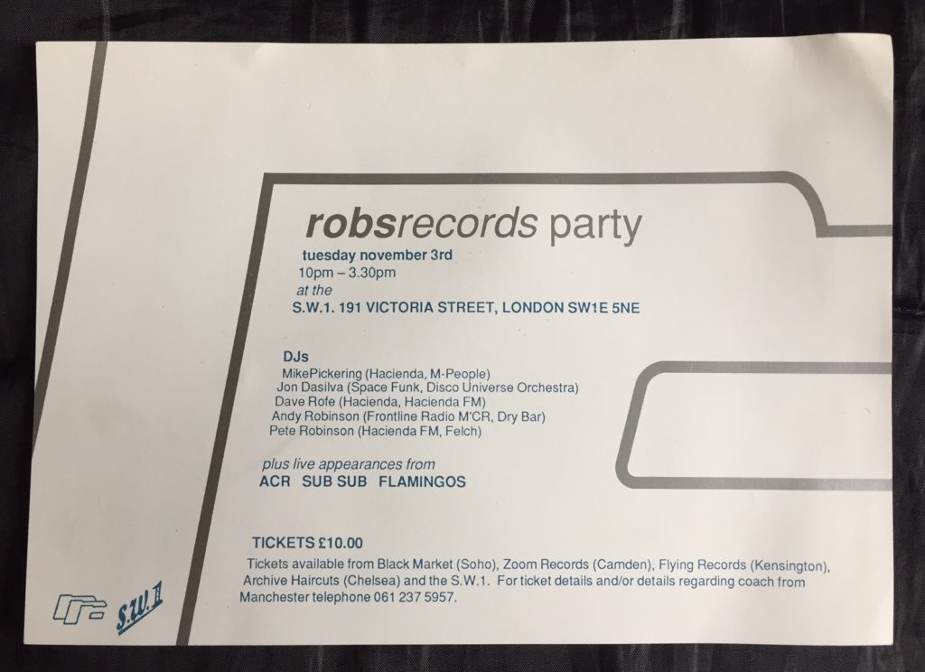 Rob's Records Party flyer - 41 Rooms - show 41