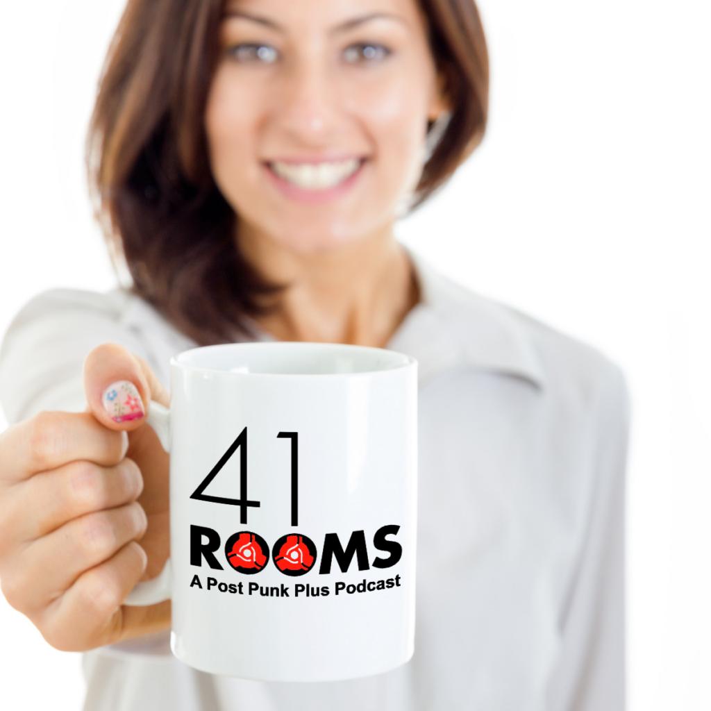 41 Rooms white mug (girl holding)