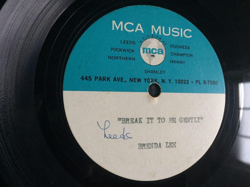 Brenda Lee - Break It To Me Gently (acetate) - 41 Rooms - show 67