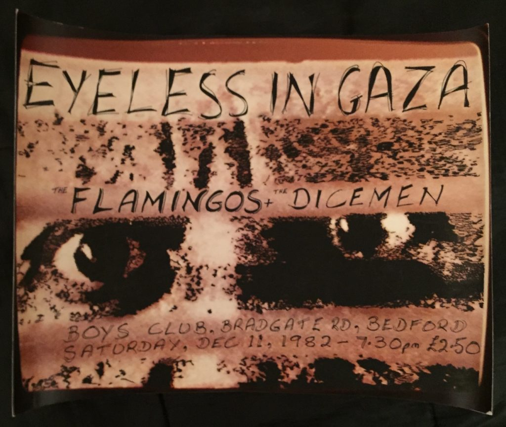 Eyeless In Gaza, Bedford Boys Club, 11.12.82 original poster - 41 Rooms - show 66
