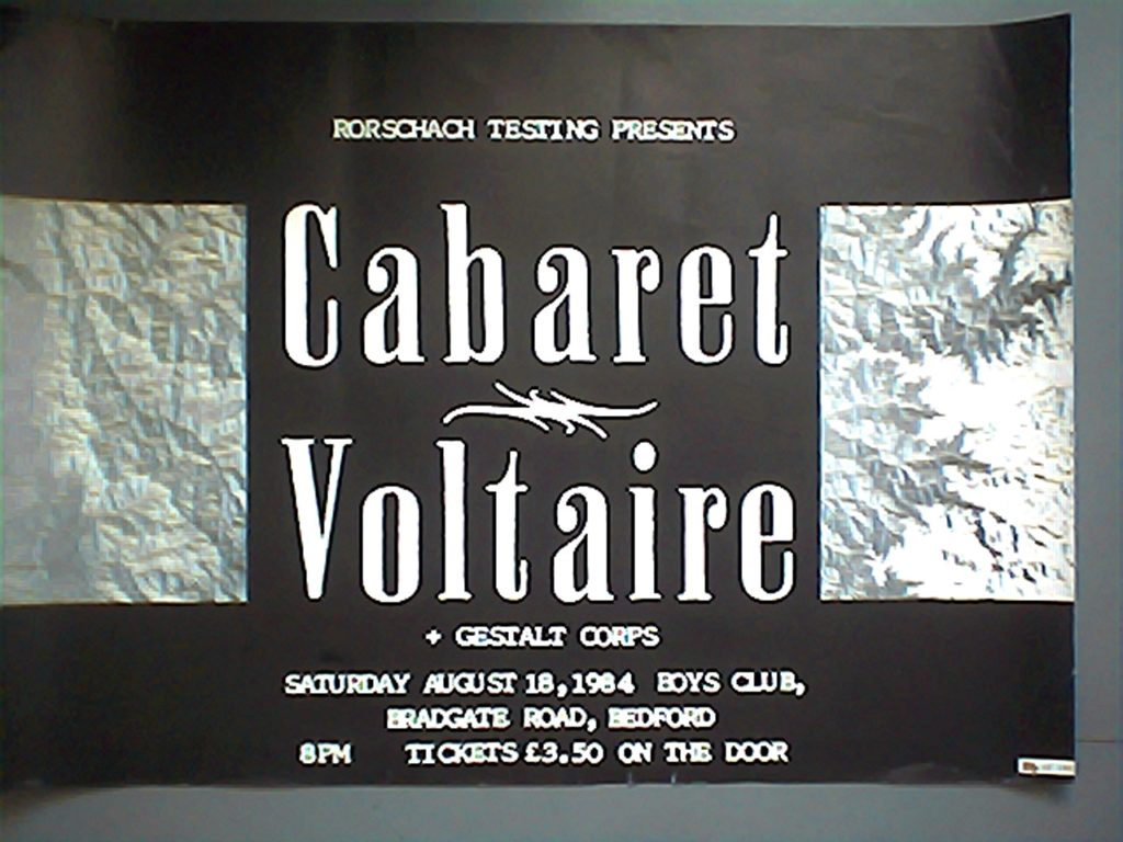 Cabaret Voltaire, Bedford Boys Club 8.84 poster - 41 Rooms - show 71