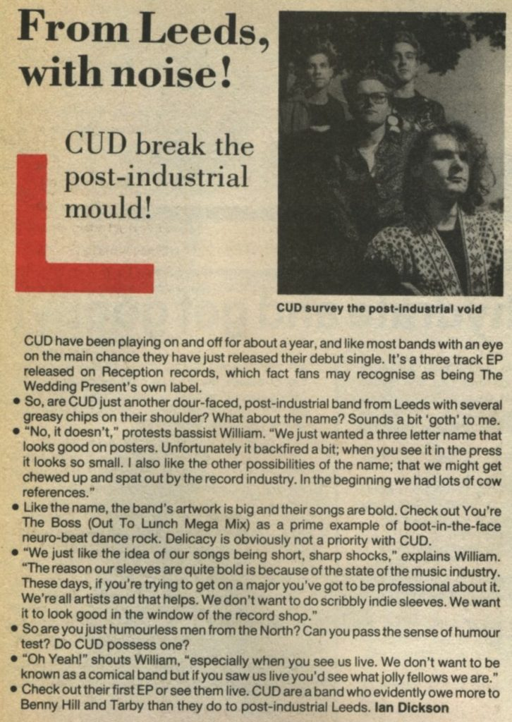 Cud. Underground, #9, Dec 87 article - 41 Rooms - show 71