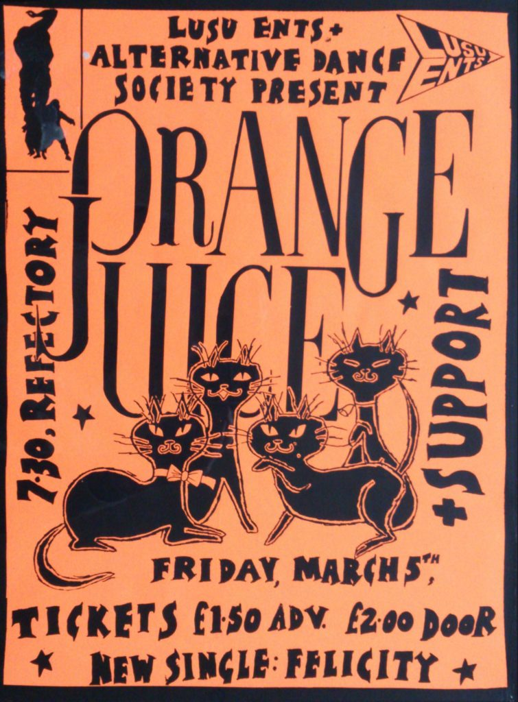 Dave S's Orange Juice's 1982 Leicester Uni poster - 41 Rooms - show 76