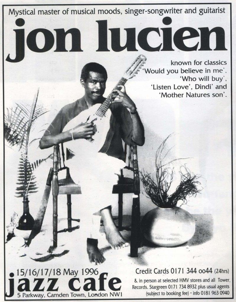 Jon Lucien ad (Jazid #3) 5-7.96 - 41 Rooms - show 75
