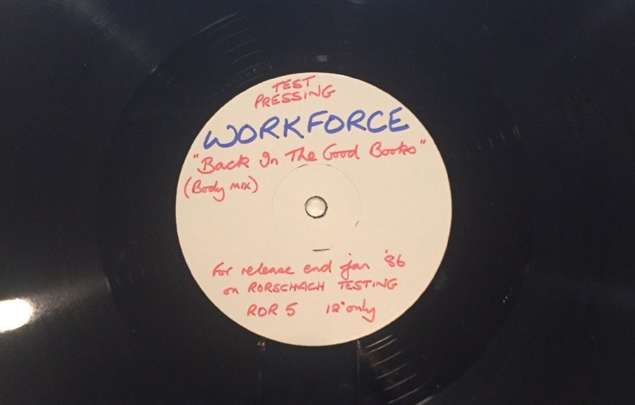 Workforce - Back In The Good Books test pressing - 41 Rooms - show 75