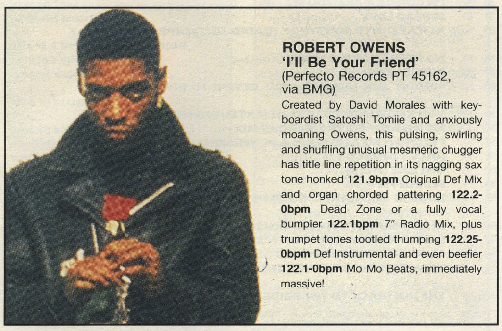 Robert Owens - I'll Be Your Friend review, 30.11.91 - 41 Rooms 0- show 77