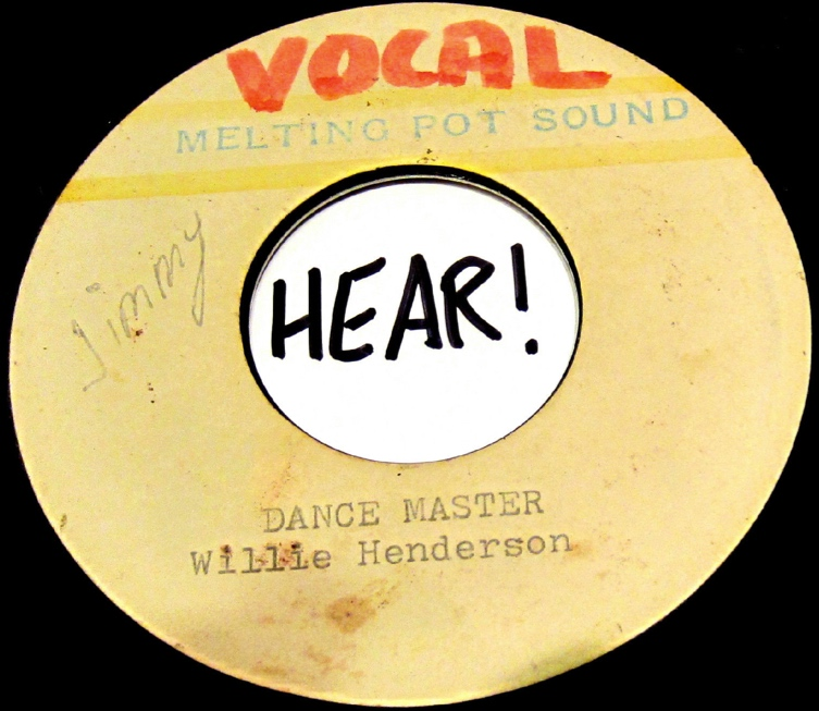 Willie Henderson - The Dance Master (acetate) - 41 Rooms - show 77