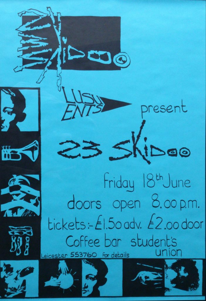 23 Skidoo 42cm x 61cm 1981 Leicester poster - 41 Rooms - show 79