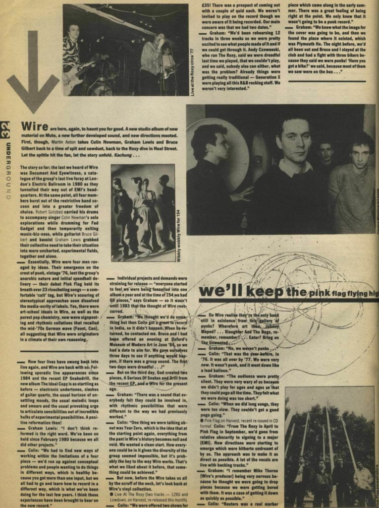 Wire (1) - Underground #2, May 87 - 41 Rooms - show 81