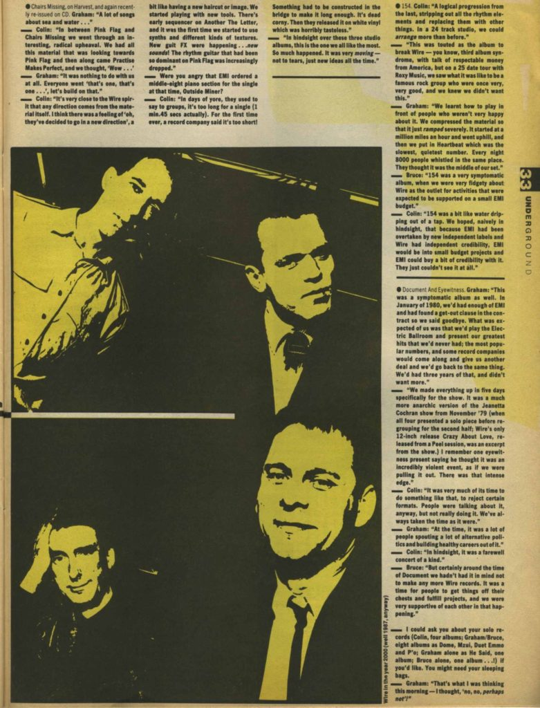 Wire (2) - Underground #2, May 87 - 41 rooms - show 81