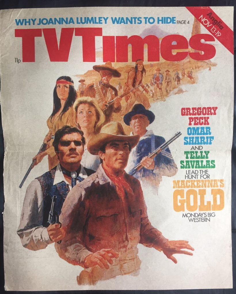 UK TV Times Nov 13-26, '76 cover - Mackenna's Gold - 41 Rooms - show 82