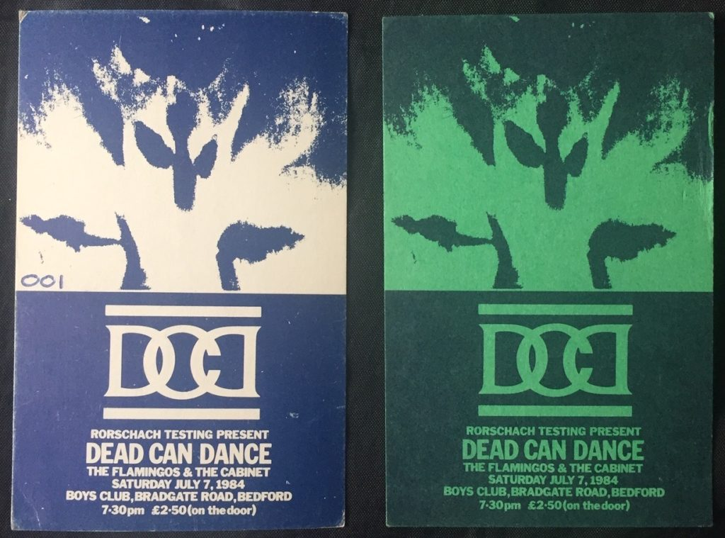 Dead Can Dance, Bedford Boys Club #001 ticket and pass - 41 Rooms - show 82