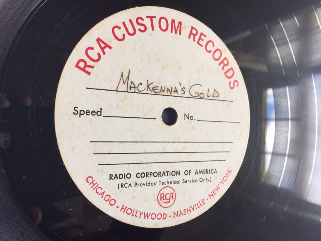 Jose Feliciano - Old Turkey Buzzard - 41 Rooms - show 82 (1-sided acetate of Mackenna's Gold soundtrack album