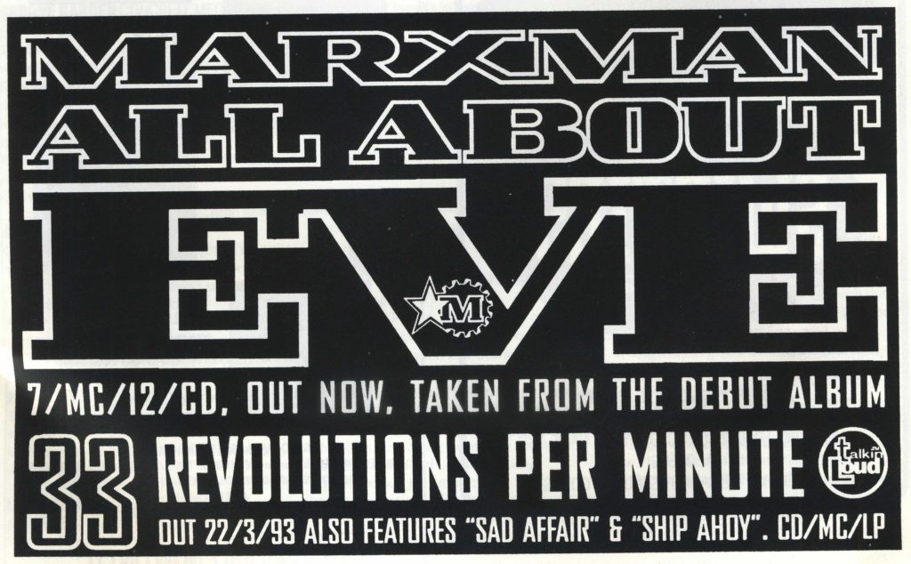 Marxman ad (Straight No Chaser #20) Spring '93 - 41 Rooms - show 83