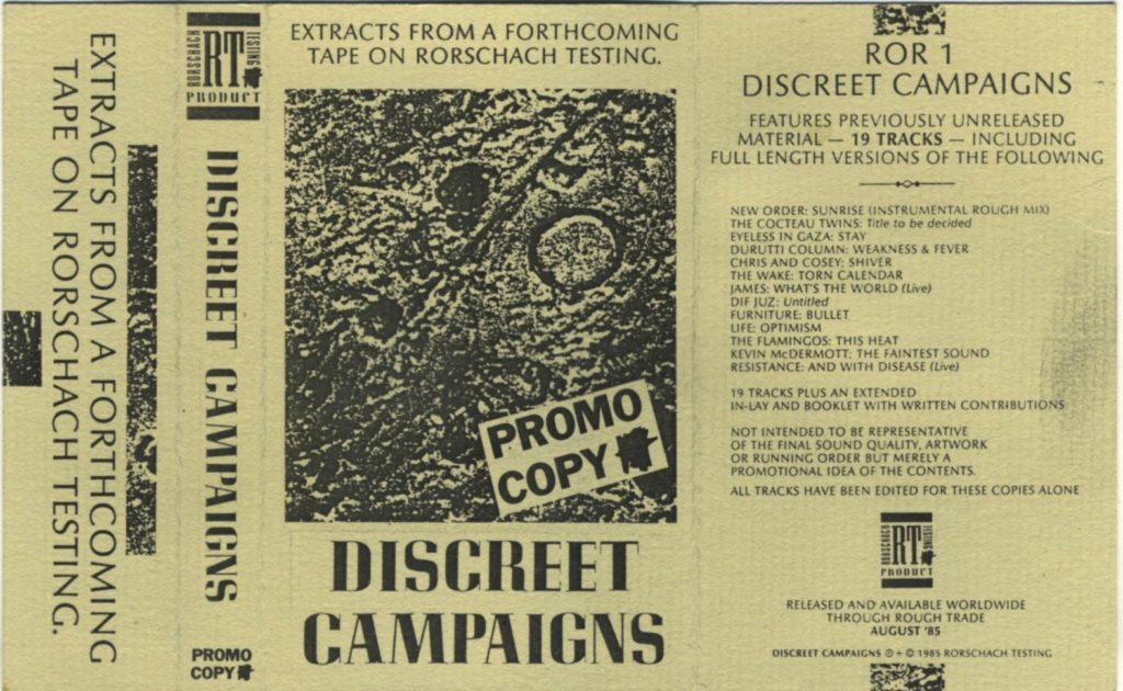 Ganzheit - Preface and Hostilities - Discreet Campaigns, promo cover - 41 Rooms - show 84