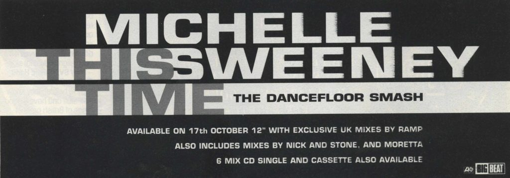 Michelle Sweeney ad - 15.10.94 - 41 Rooms - show 85