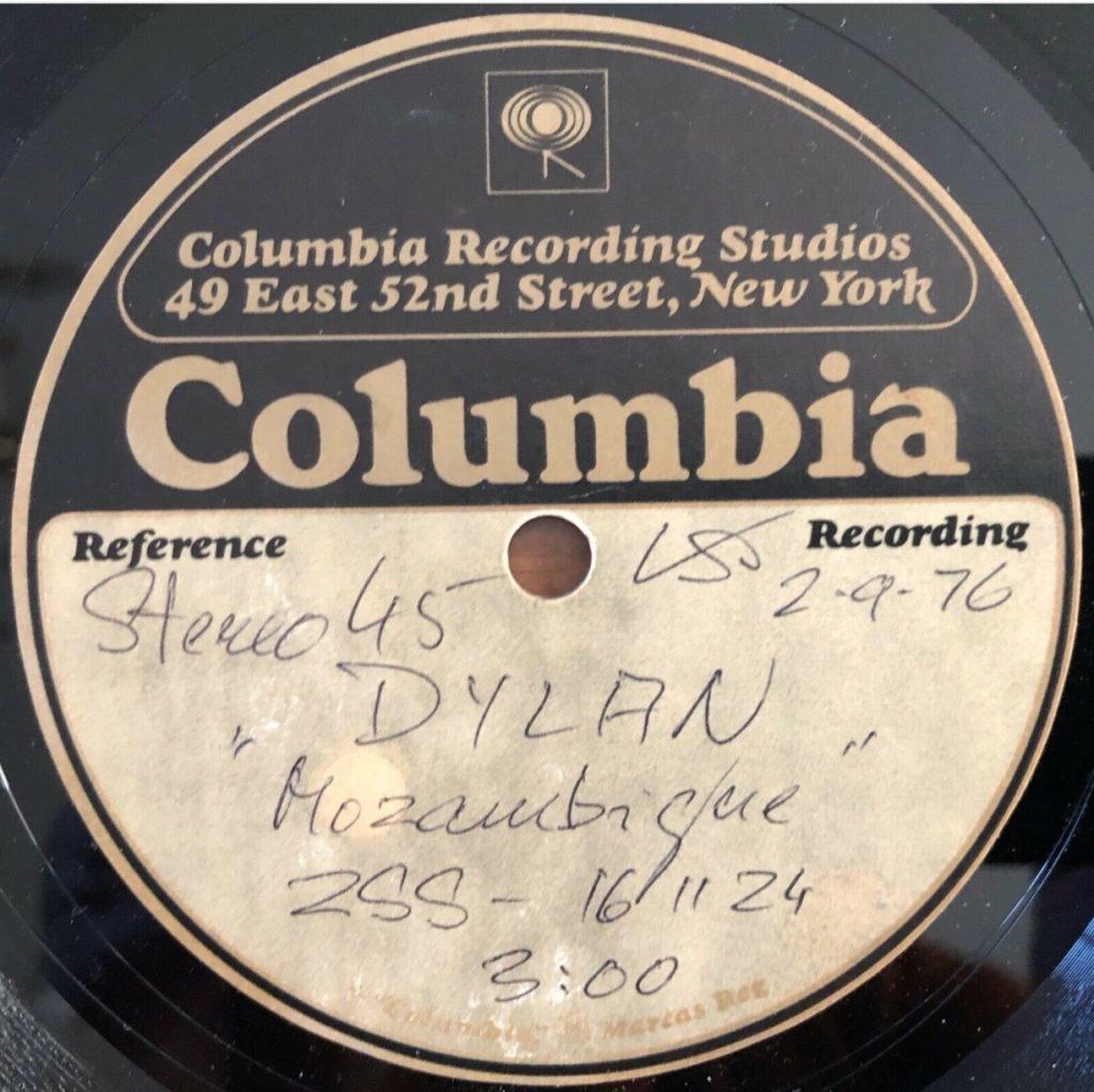 Bob Dylan - Mozambique (acetate) - 41 Rooms - show 87