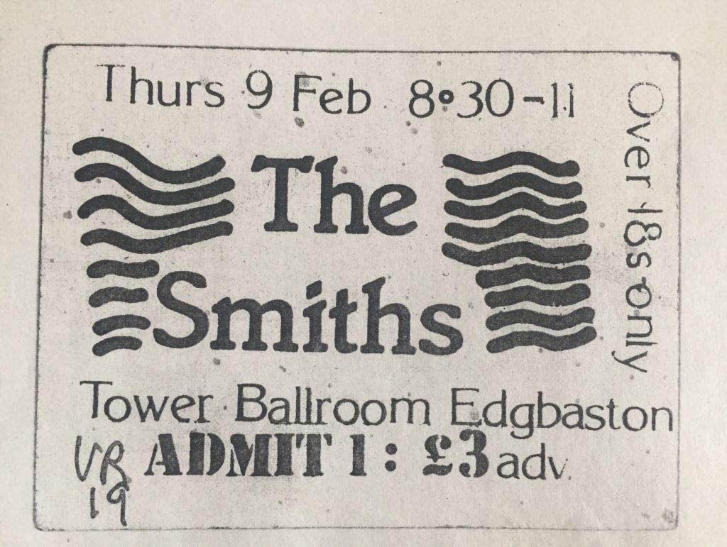 The Smiths, Birmingham Tower Ballroom 1984 ticket - 41 Rooms - show 87