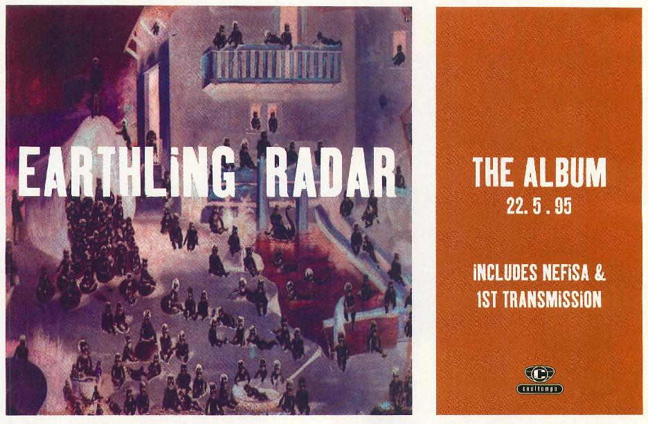 Earthling LP ad - 41 Rooms - show 89 (Muzik #1, June '95)