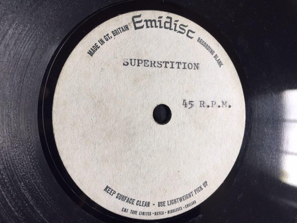 Stevie Wonder - Superstition (UK acetate) - 41 Rooms - show 91