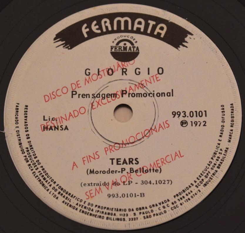 Giorgio (Moroder) - Tears - 41 Rooms - Show 96